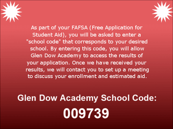 Financial Aid Glen Dow Academy